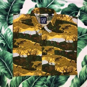 Vintage 90s GAP All Over Print Button Up Shirt L